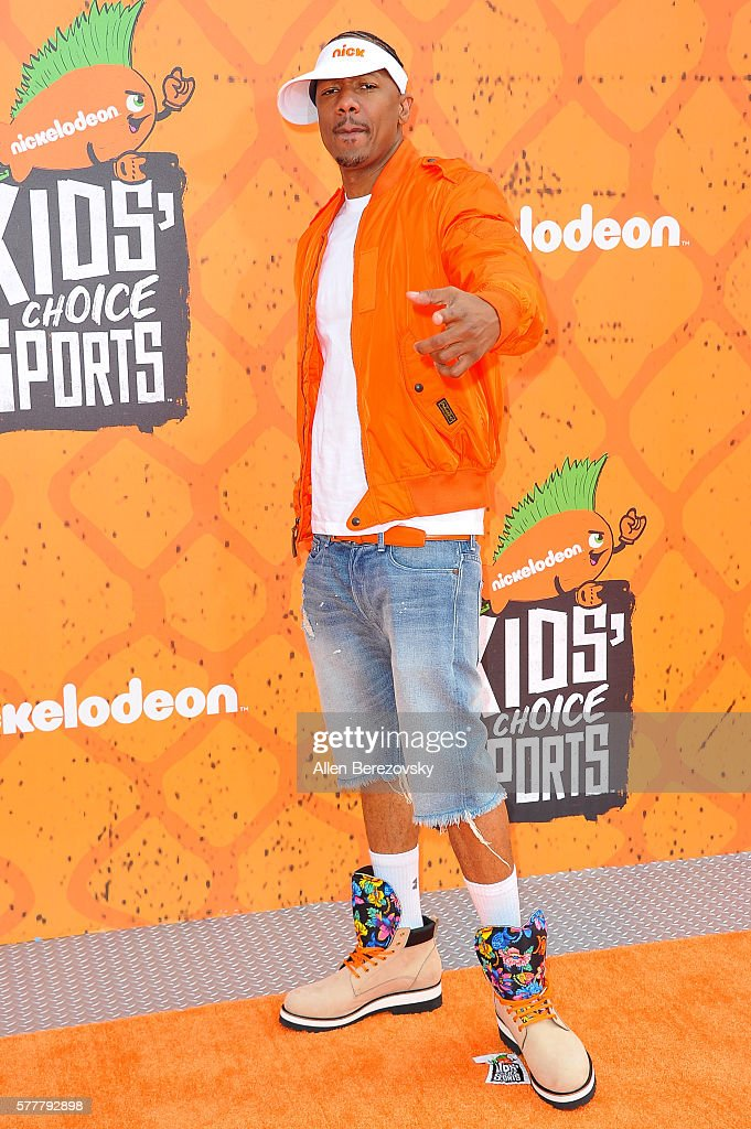 Actor Nick Cannon arrives at the Nickelodeon Kids' Choice Sports Awards 2016 at UCLA's Pauley Pavilion on July 14, 2016 in Westwood, California.