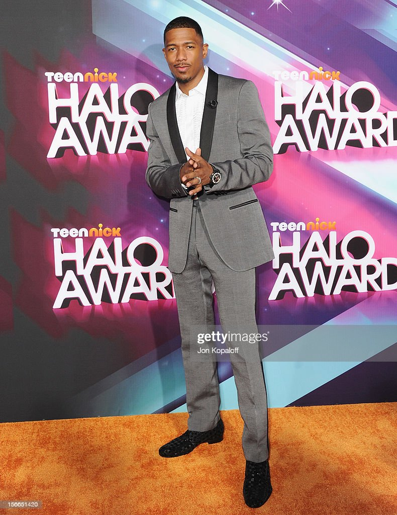 Actor Nick Cannon arrives at the TeenNick HALO Awards at The Hollywood Palladium on November 17, 2012 in Los Angeles, California.