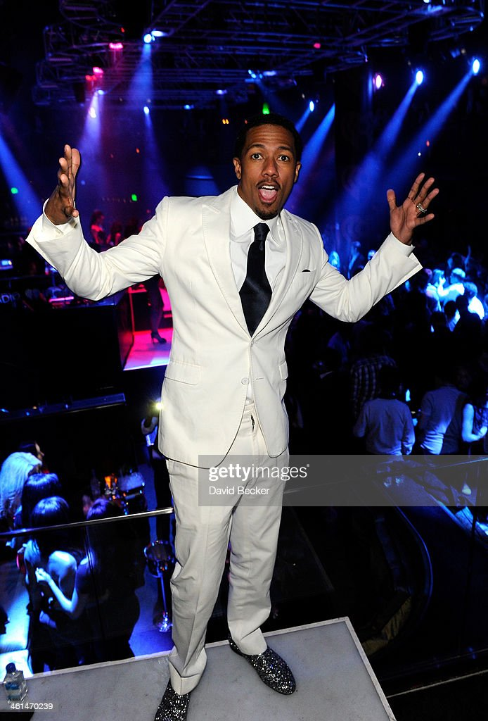 Actor Nick Cannon attends a private party celebrating CES 2014 hosted by iHeartRadio featuring a live performance by Krewella at Haze Nightclub at the Aria Resort & Casino at CityCenter on January 8, 2014 in Las Vegas, Nevada.