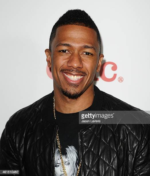 """Actor Nick Cannon attends Meghan Trainor's record release party for her debut album """"Title"""" at Warwick on January 13, 2015 in Hollywood, California."""