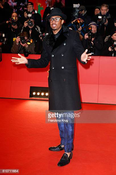 Actor Nick Cannon attends the 'Chi-Raq' premiere during the 66th Berlinale International Film Festival Berlin at Berlinale Palace on February 16,...