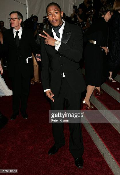 Actor Nick Cannon attends the Metropolitan Museum of Art Costume Institute Benefit Gala Anglomania at the Metropolitan Museum of Art May 1 2006 in...