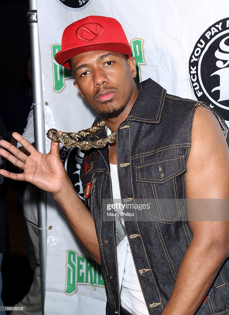 Actor Nick Cannon attends The Official International Players Ball 2012 and birthday celebration for Arch Bishop Don Magic Juan at Key Club on December 8, 2012 in West Hollywood, California.