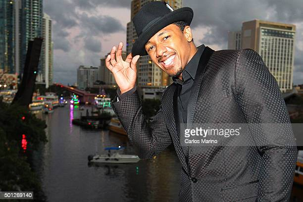 Actor Nick Cannon is Grand Marshal of the Seminole Hard Rock Hotel Casino Winterfest Boat Parade on December 12 2015 in Fort Lauderdale Florida