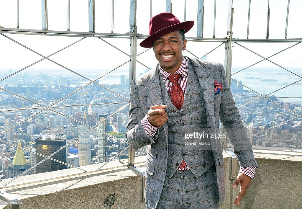 Nick Cannon Lights The Empire State Building Blue In Celebration Of St. Mary's Healthcare System For Children