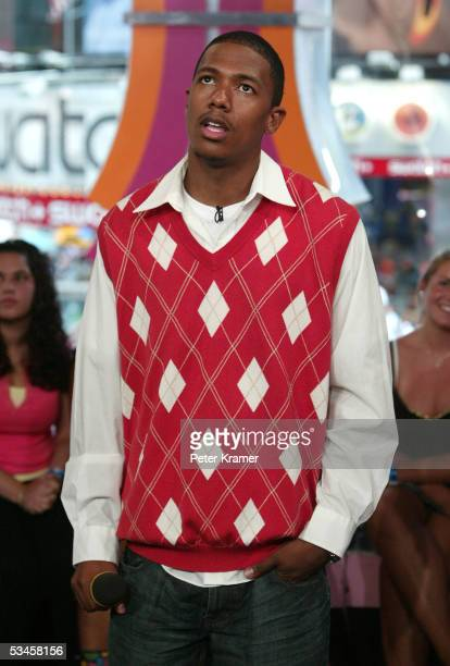 Actor Nick Cannon makes an appearance on MTV's Total Request Live on August 24 2005 in New York City
