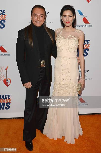 Actor Nick Chavez and Rebecca Da Costa attend the 20th Annual Race To Erase MS Gala Love To Erase MS at the Hyatt Regency Century Plaza on May 3 2013...