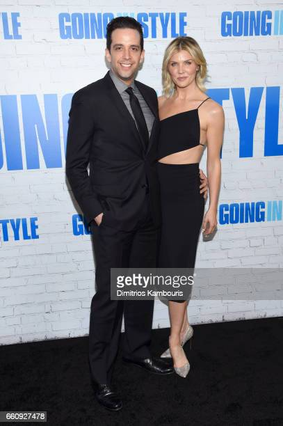 Actor Nick Cordero and guest attend the Going In Style New York Premiere at SVA Theatre on March 30 2017 in New York City