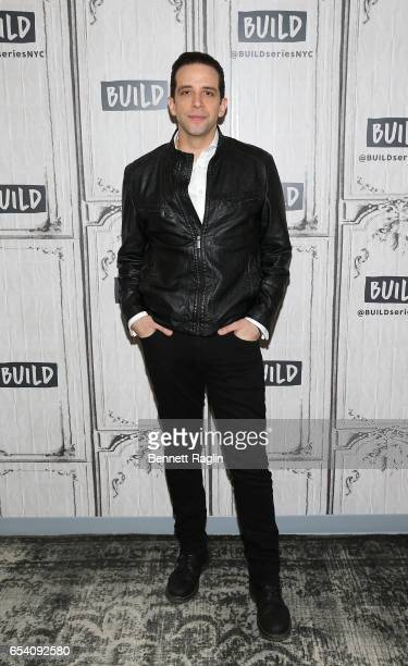 Actor Nick Cordero attends the Build Series at Build Studio on March 16, 2017 in New York City.