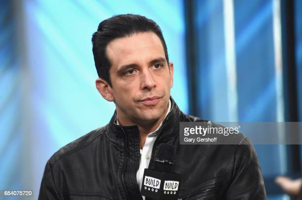 Actor Nick Cordero attends the Build Series to discuss his starring role as Sonny in the Broadway show 'A Bronx Tale' at Build Studio on March 16,...