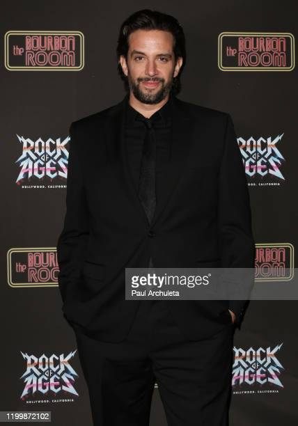 Actor Nick Cordero attends the opening night of Rock Of Ages at The Bourbon Room on January 15 2020 in Hollywood California