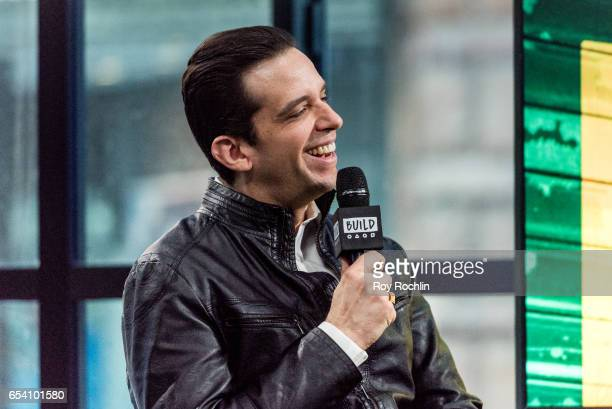Actor Nick Cordero discusses A Bronx Tale with The Build Series at Build Studio on March 16 2017 in New York City