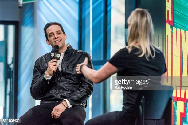 """Actor Nick Cordero discusses """"A Bronx Tale"""" with The Build Series at Build Studio on March 16, 2017 in New York City."""