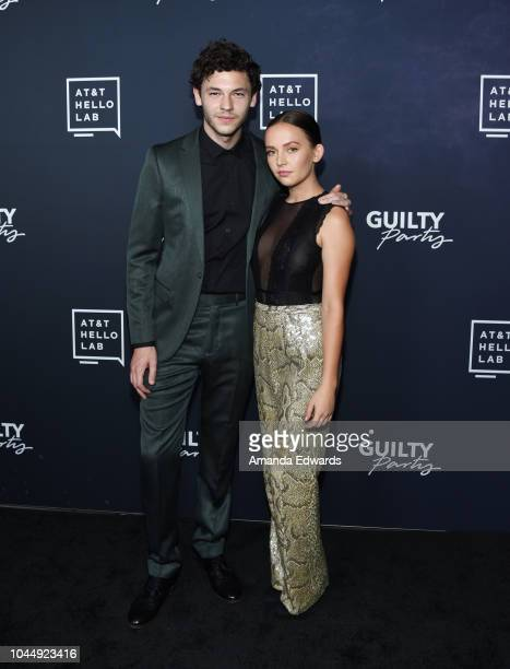 Actor Nick Fink and actress Alexis G Zall arrive at the ATT Hello Lab's 'Guilty Party History Of Lying' Season 2 Premiere at the ArcLight Hollywood...