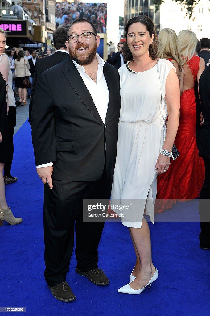 Actor Nick Frost and Christina Frost attend the World Premiere of The World's End at Empire Leicester Square on July 10, 2013 in London, England.