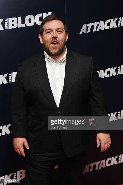 Actor Nick Frost arrives for the 'Attack The Block' UK Premiere at Vue Leicester Square on May 4 2011 in London England