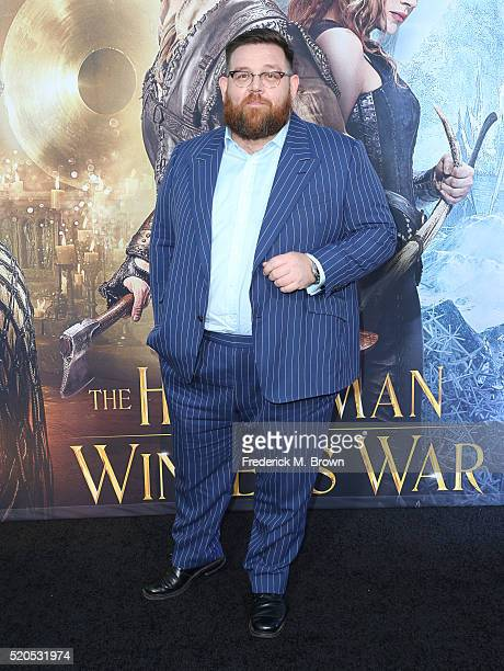 Actor Nick Frost attends the premiere of Universal Pictures' The Huntsman Winter's War at the Regency Village Theatre on April 11 2016 in Westwood...