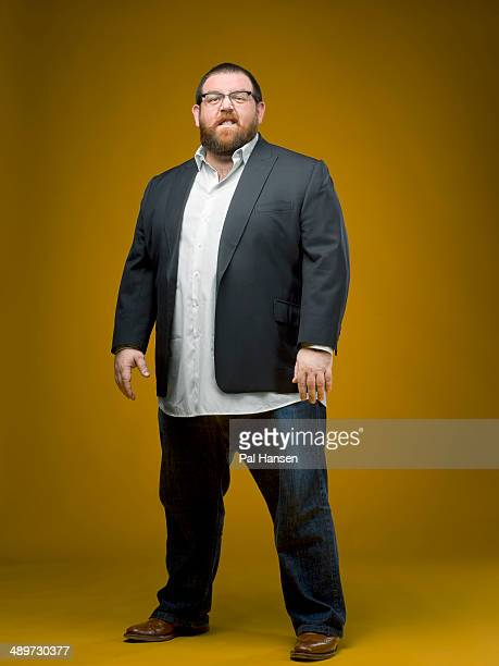 Actor Nick Frost is photographed for the Sunday Times magazine on January 28 2014 in London England