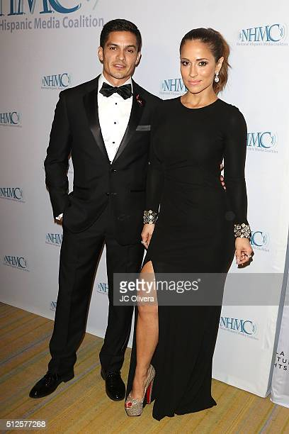 Actor Nick Gonzalez and tv personality Jackie Guerrido attend wthe 19th Annual National Hispanic Media Coalition Impact Awards Gala at Regent Beverly...
