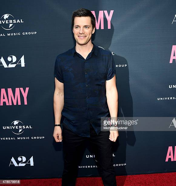 Actor Nick Jandl arrives at the premiere of A24 Films 'Amy' at ArcLight Cinemas on June 25 2015 in Hollywood California