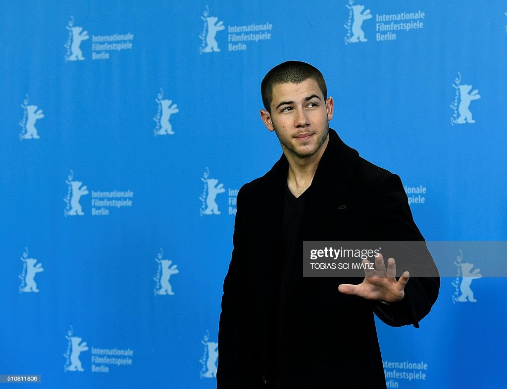 US actor Nick Jonas attends a photo call for the film 'Goat' by US director Andrew Neel, screened at the 66th Berlinale Film Festival in Berlin on February 17, 2016. SCHWARZ