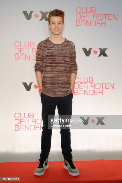 Actor Nick Julius Schuck attends 'Club der roten Baender' photocall at Astor Film Lounge on October 18 2017 in Cologne Germany