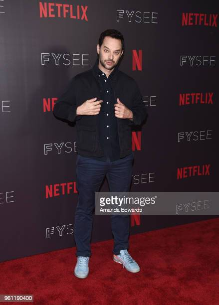 Actor Nick Kroll arrives at the #NETFLIXFYSEE Animation Panel featuring 'Big Mouth' and 'BoJack Horseman' at the Netflix FYSEE At Raleigh Studios on...