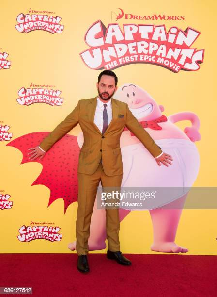 Actor Nick Kroll arrives at the premiere of 20th Century Fox's 'Captain Underpants The First Epic Movie' at the Regency Village Theatre on May 21...