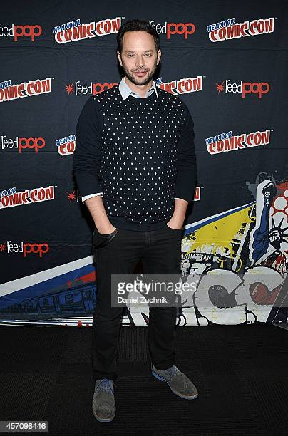 Actor Nick Kroll attends The League press room at 2014 New York Comic Con Day 3 at Jacob Javitz Center on October 11 2014 in New York City