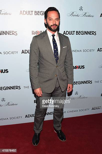 Actor Nick Kroll attends the New York premiere of 'Adult Beginners' hosted by RADiUS with The Cinema Society Brooks Brothers at AMC Lincoln Square...