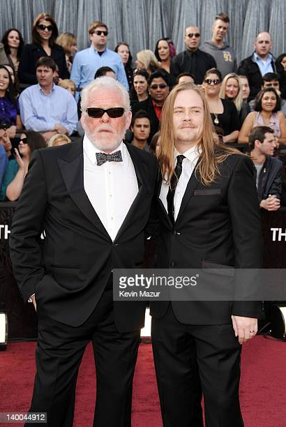 Actor Nick Nolte and Brawley Nolte arrive at the 84th Annual Academy Awards held at the Hollywood Highland Center on February 26 2012 in Hollywood...