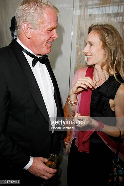 Actor Nick Nolte and Clytie Lane attend 'An Evening For Africa' at the Burda Medien Park on June 7 2010 in Offenburg Germany
