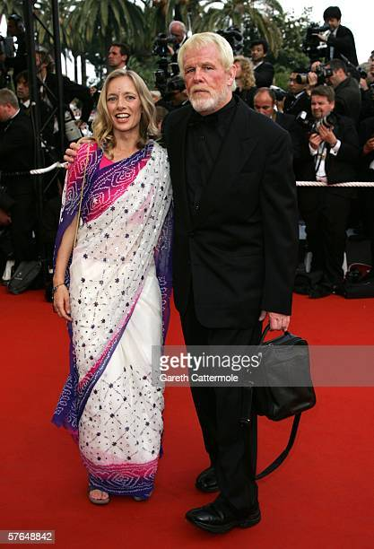 Actor Nick Nolte and guest attend the 'Paris Je T'aime' premiere during the 59th International Cannes Film Festival on May 18 2006 in Cannes France