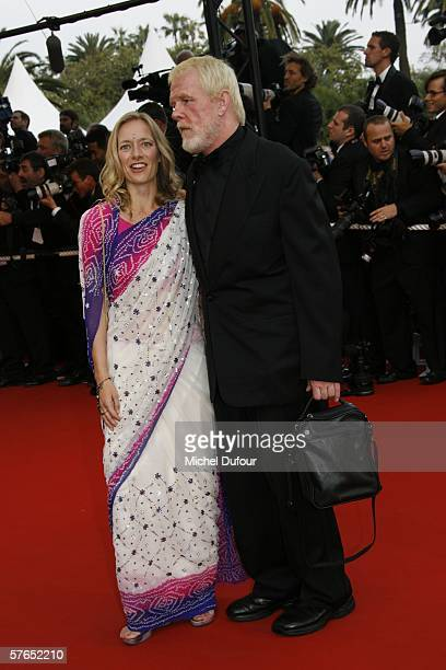 Actor Nick Nolte and guest attend the Paris Je T'aime premiere during the 59th International Cannes Film Festival on May 18 2006 in Cannes France