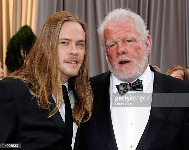 Actor Nick Nolte and his son Brawley Nolte arrive at the 84th Annual Academy Awards at the Hollywood Highland Center February 26 2012 in Hollywood...