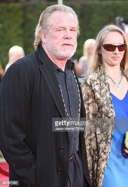 Actor Nick Nolte arrive to the premiere of DreamWorks Pictures' Tropic Thunder on August 11 2008 in Westwood California