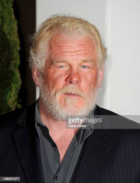 Actor Nick Nolte arrives at the 84th Annual Academy Awards Nominees Luncheon at The Beverly Hilton hotel on February 6 2012 in Beverly Hills...