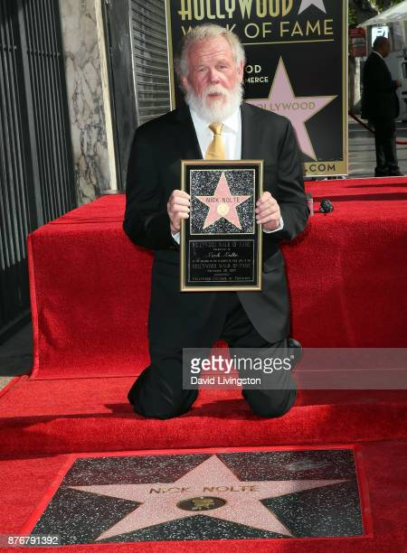 Actor Nick Nolte attends his being honored with a Star on the Hollywood Walk of Fame on November 20 2017 in Hollywood California