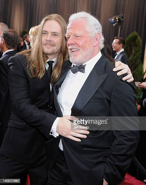 Actor Nick Nolte Brawley Nolte arrive at the 84th Annual Academy Awards held at the Hollywood Highland Center on February 26 2012 in Hollywood...