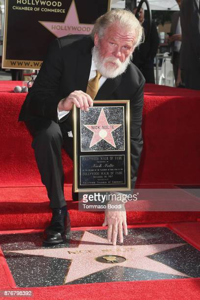Actor Nick Nolte Honored With Star On The Hollywood Walk Of Fame on November 20 2017 in Hollywood California