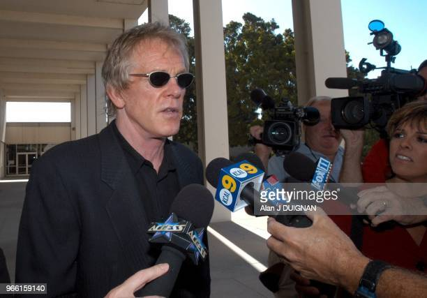 Actor Nick Nolte is interviewed by the media after his progress report hearing before Judge Lawrence Mira at Malibu Superior Court Tuesday morning...