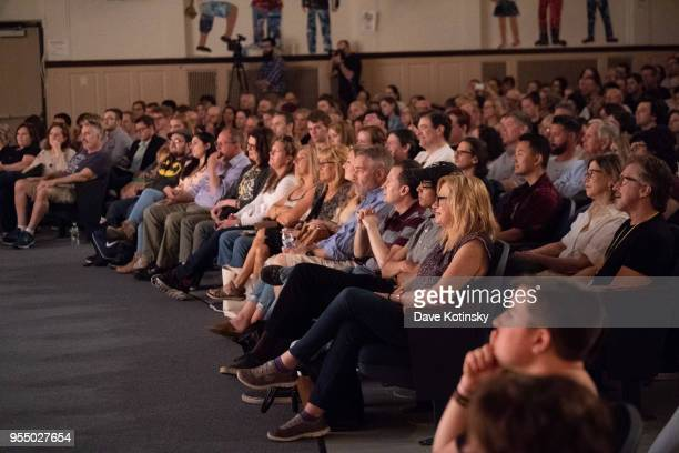 Actor Nick Offerman and Patrick Wilson speak at the Montclair Film Festival on May 5 2018 in Montclair NJ