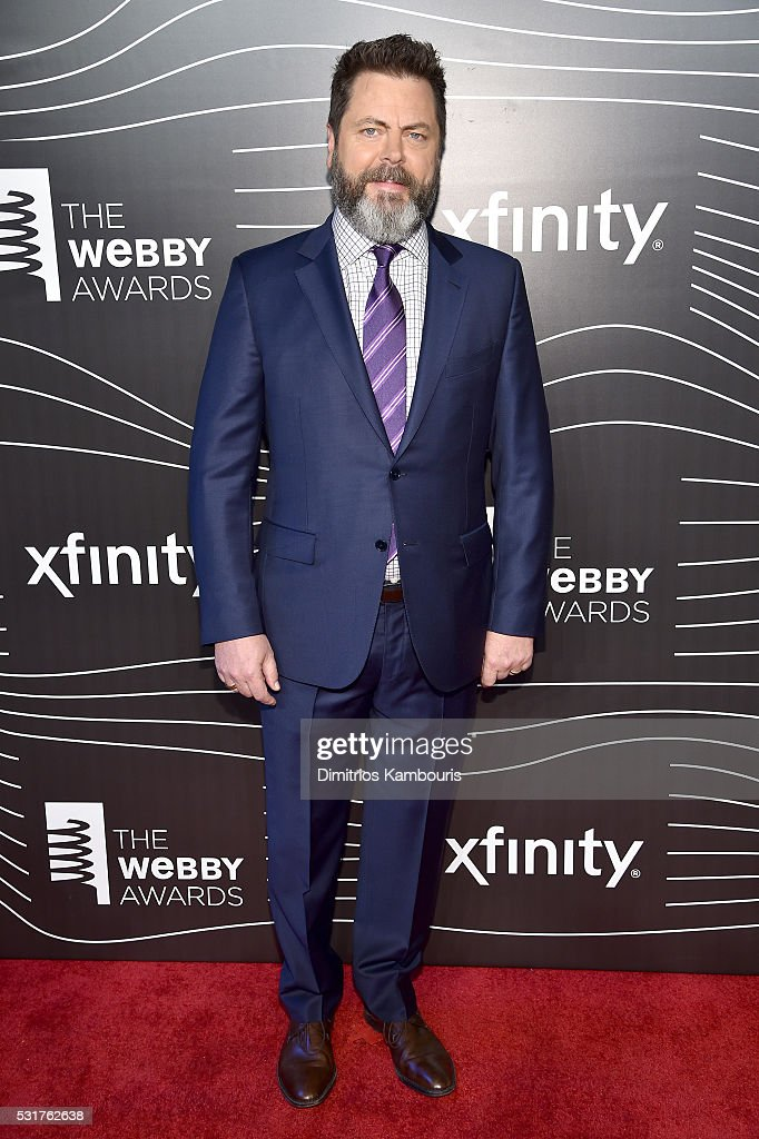 Actor Nick Offerman attends the 20th Annual Webby Awards at Cipriani Wall Street on May 16, 2016 in New York City.