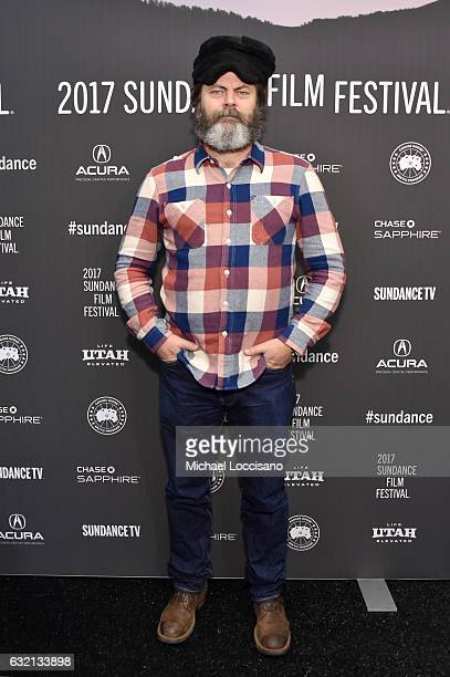 Actor Nick Offerman attends 'The Little Hours' premiere during day 1 of the 2017 Sundance Film Festival at Library Center Theater on January 19 2017...