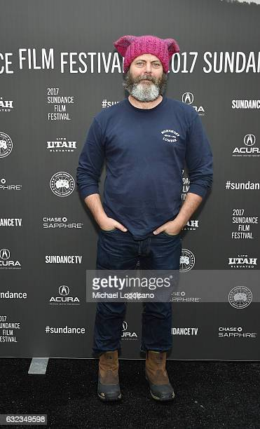 Actor Nick Offerman attends the 'The Hero' premiere on day 3 of the 2017 Sundance Film Festival at Library Center Theater on January 21 2017 in Park...