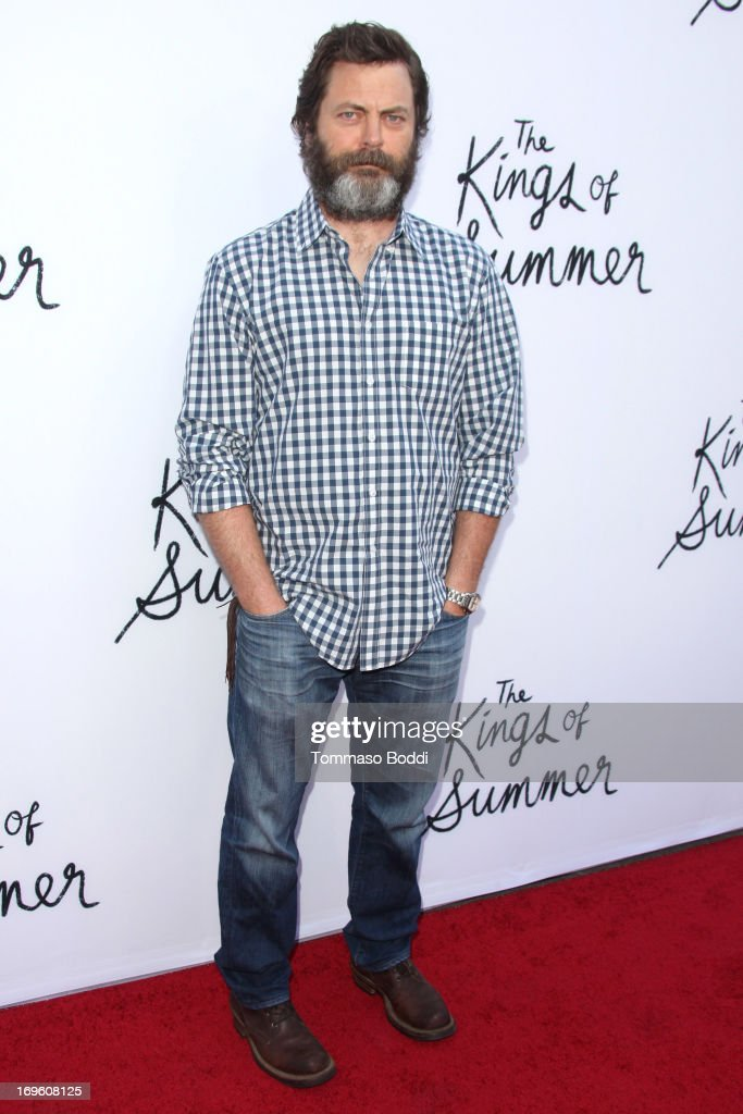 Actor Nick Offerman attends the 'The Kings Of Summer' Los Angeles premiere held at the ArcLight Hollywood on May 28, 2013 in Hollywood, California.