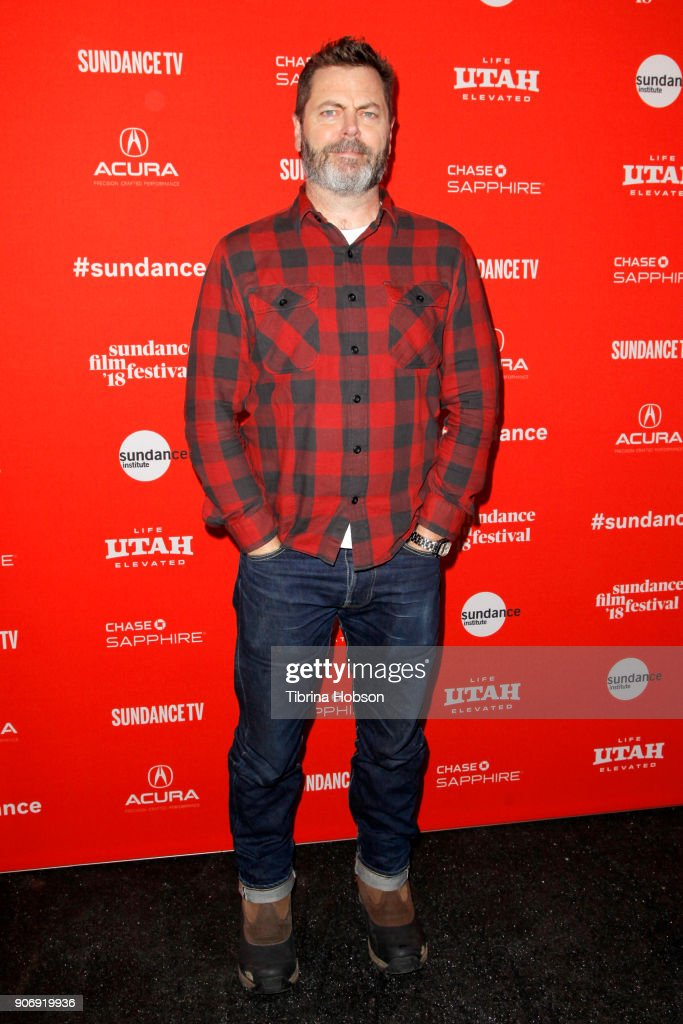Actor Nick Offerman attends the Volunteer Screening Of 'Hearts Beat Loud' Premiere during the 2018 Sundance Film Festival at Park City Library on January 18, 2018 in Park City, Utah.