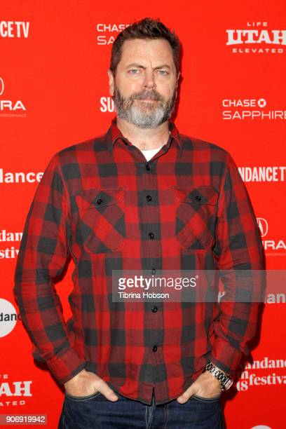 Actor Nick Offerman attends the Volunteer Screening Of 'Hearts Beat Loud' Premiere during the 2018 Sundance Film Festival at Park City Library on...