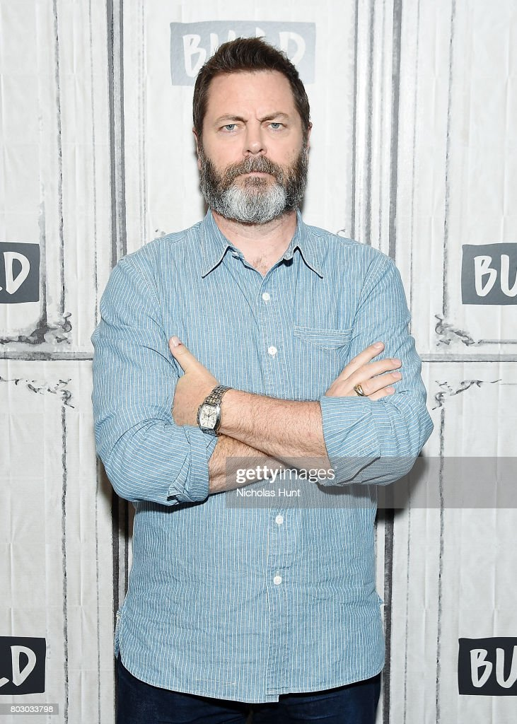 Actor Nick Offerman discusses 'Look & See' at Build Studio on June 28, 2017 in New York City.