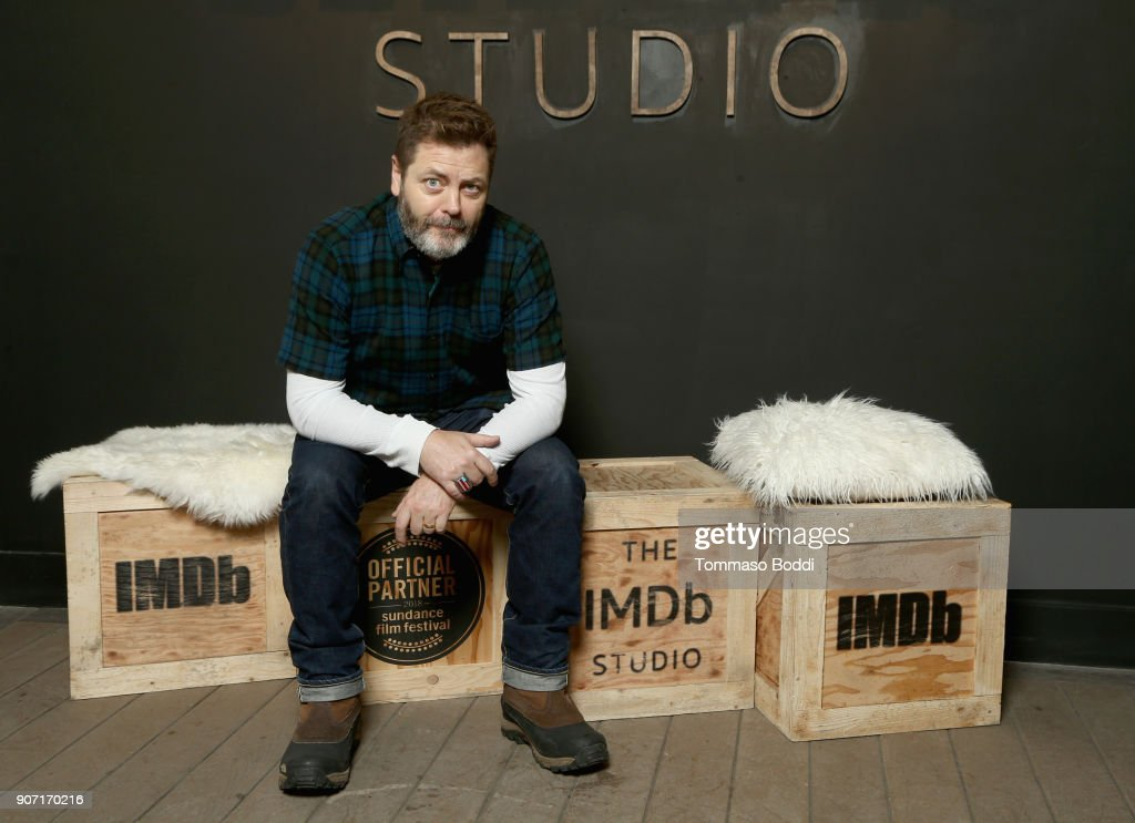 Actor Nick Offerman from 'Hearts Beat Loud' attends The IMDb Studio at The Sundance Film Festival on January 19, 2018 in Park City, Utah.